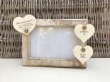 Shabby personalised Chic Photo Frame In Memory Of Son Or Any Loved One Any Names - 232993449413